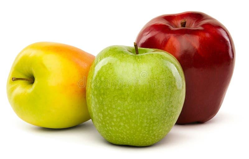 Grüne, gelbe und rote Äpfel lizenzfreie stockfotografie