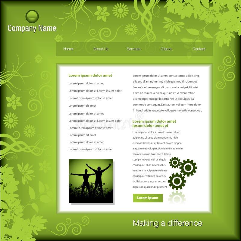 Grüne Geschäftsweb-Schablone lizenzfreie abbildung