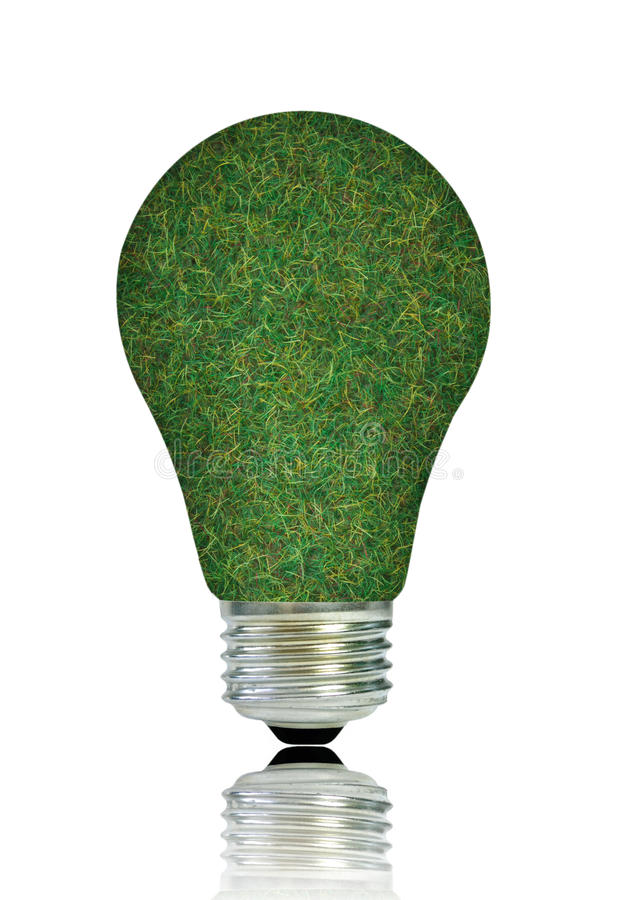 Grüne Glühlampe lizenzfreies stockbild