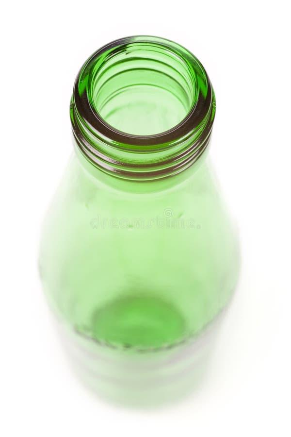 Grüne Glasflasche lizenzfreies stockfoto