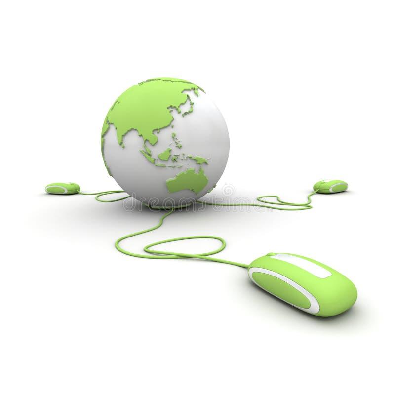 Grüne globale Kommunikation stock abbildung