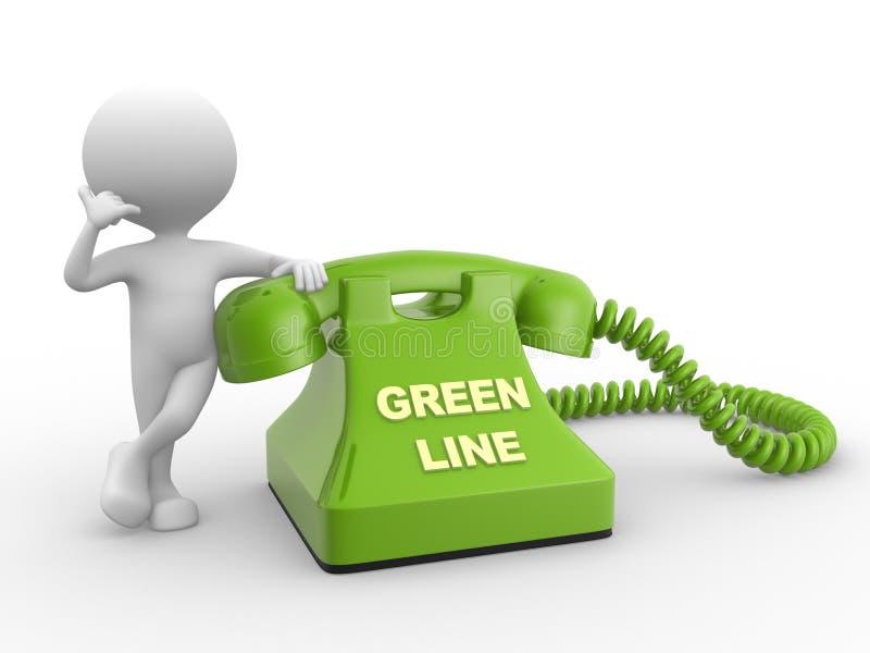 Grüne Grenze lizenzfreie abbildung