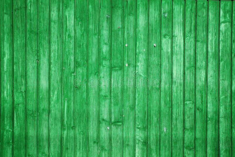 Grüne hölzerne Planken lizenzfreies stockbild
