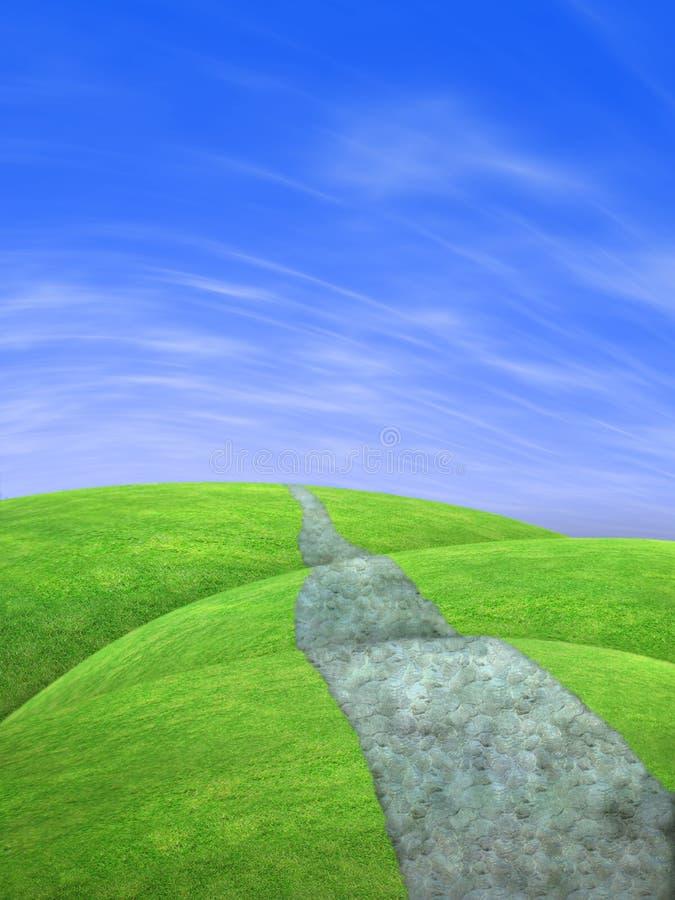 Grüne Hügel vektor abbildung
