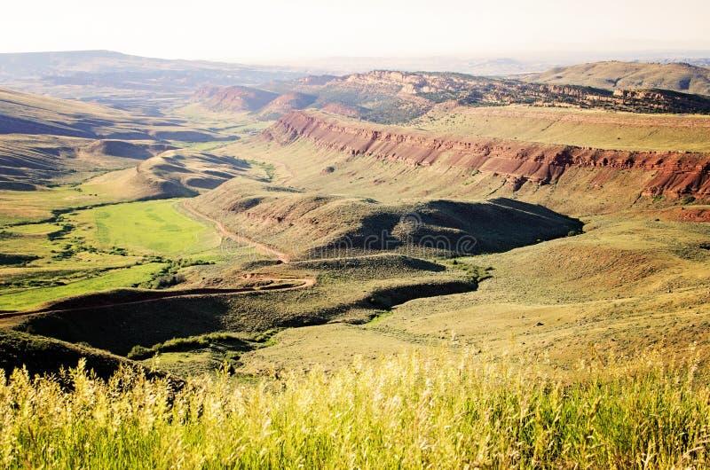 Grüne Hügel von Wyoming, USA lizenzfreie stockfotografie