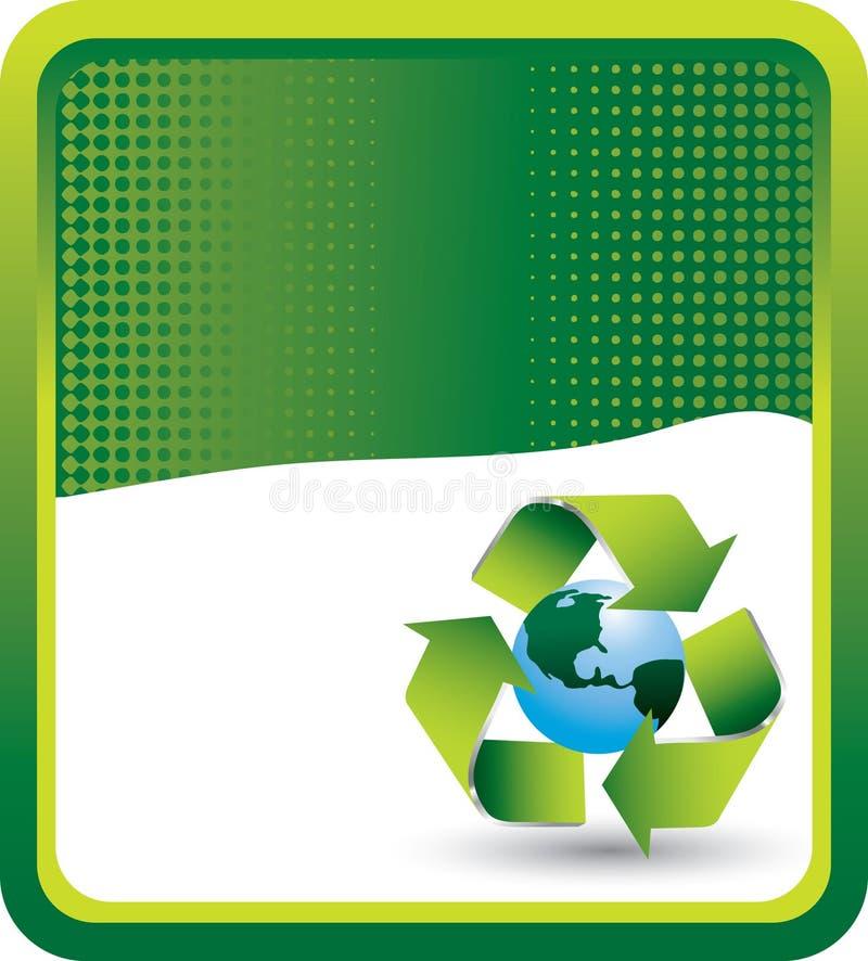 Grüne Halbtonfahne bereiten Symbol um Erde auf stock abbildung