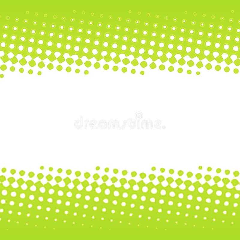 Grüne Halbtonfahnenauslegung lizenzfreie abbildung