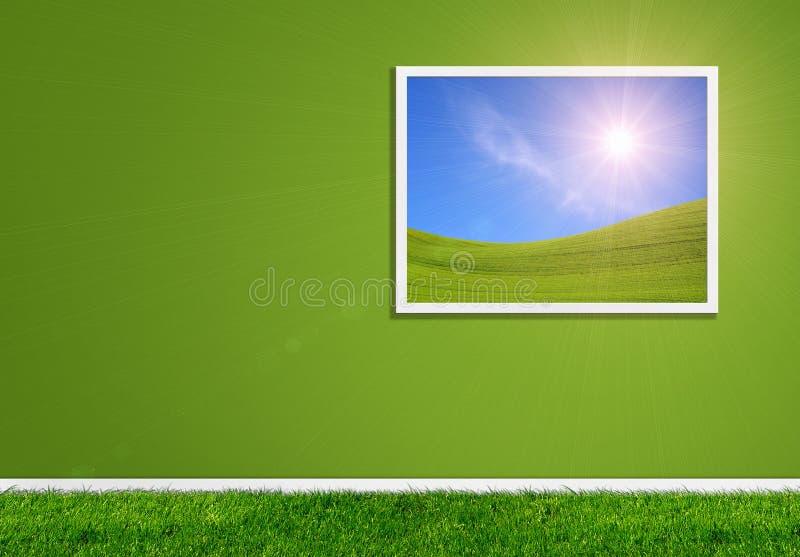 Grüne Hauptcollage lizenzfreie stockfotografie