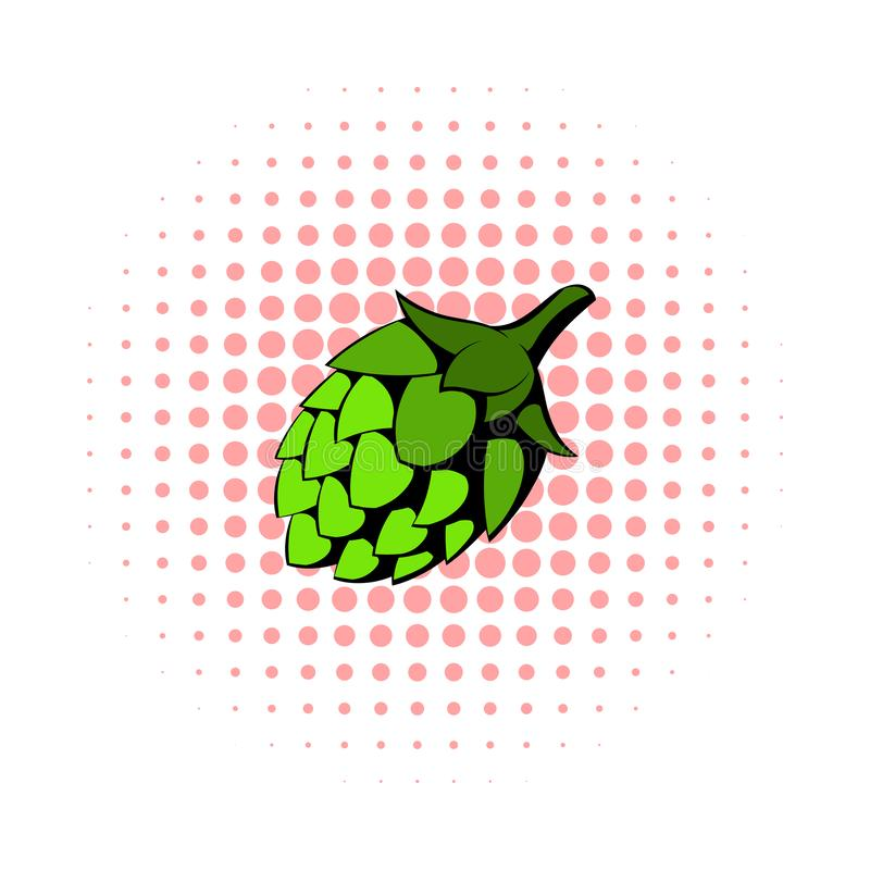 Grüne Hopfenikone, Comicsart stock abbildung