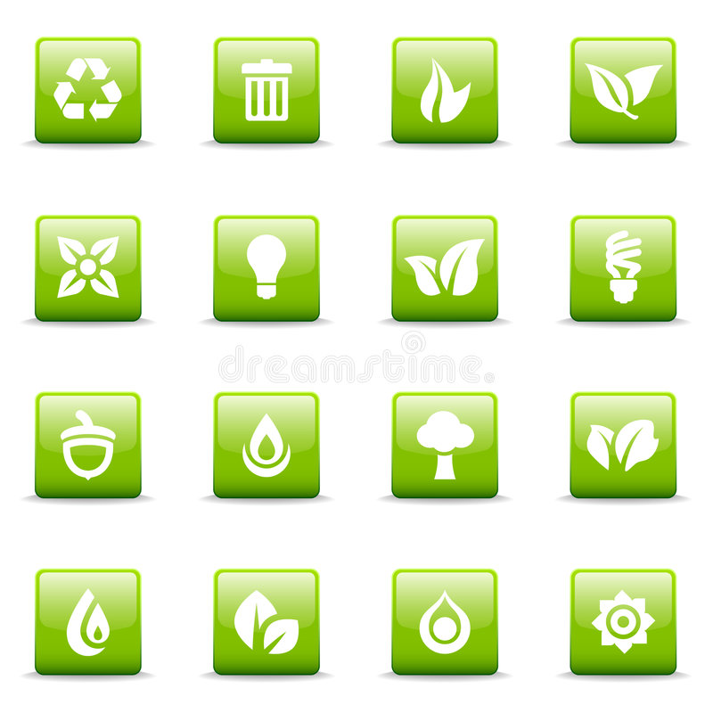 Grüne Ikonen und Grafiken vektor abbildung