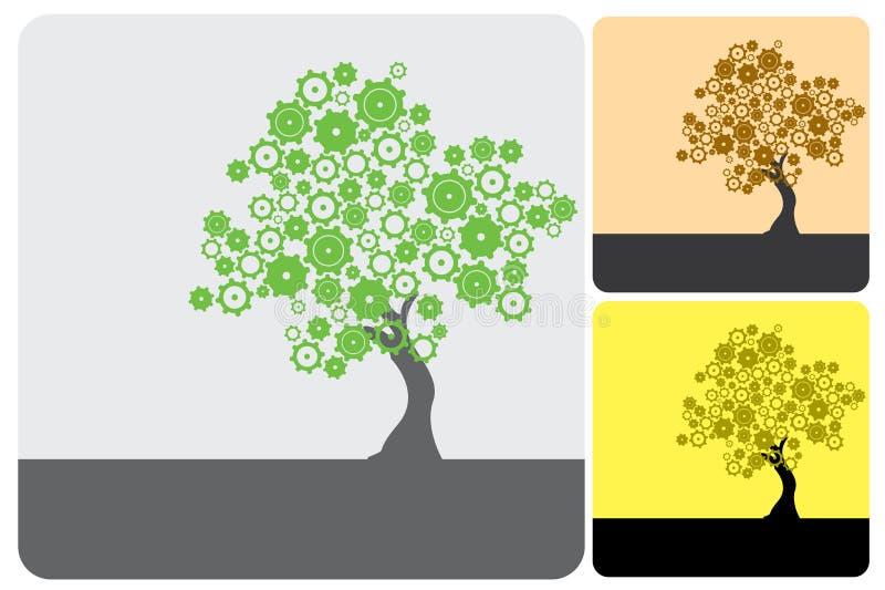 Grüne Industrie lizenzfreie abbildung