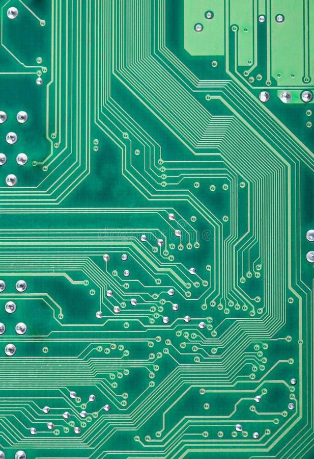 Grüne industrielle Beschaffenheit einer elektronischen Platte stockfotos