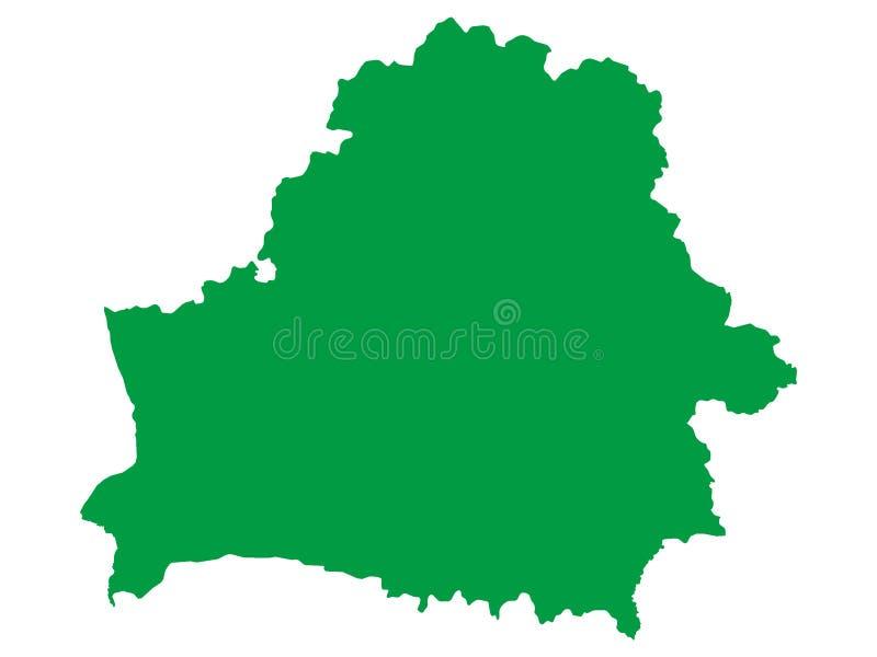 Grüne Karte des europäischen Landes von Weißrussland stock abbildung