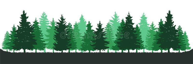 Grüne Kiefer Forest Environment lizenzfreie abbildung