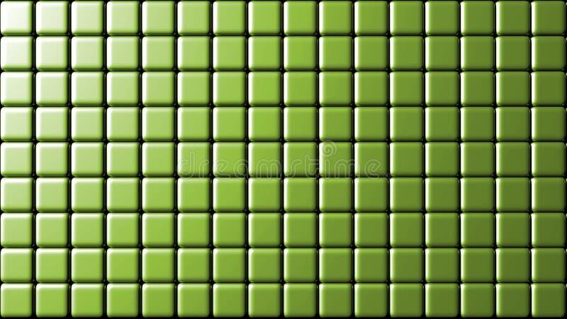 Grüne kleine Wand des Kameraden deckt Hintergrund mit Ziegeln lizenzfreie abbildung