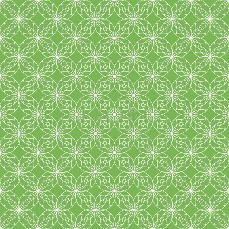 Grüne Konturnblumen vektor abbildung