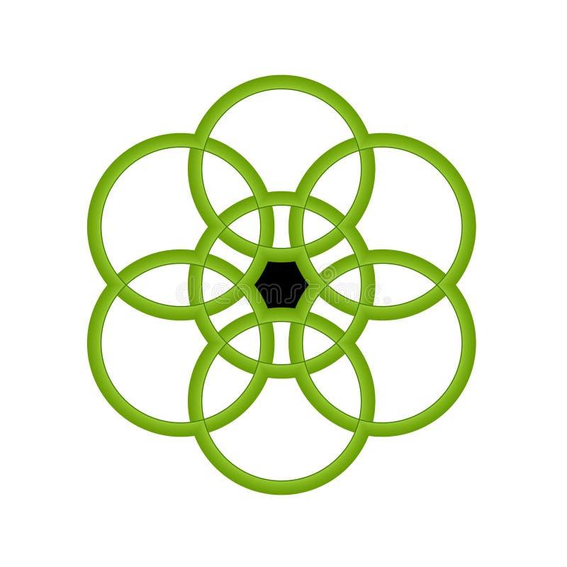 Grüne Kreise vektor abbildung