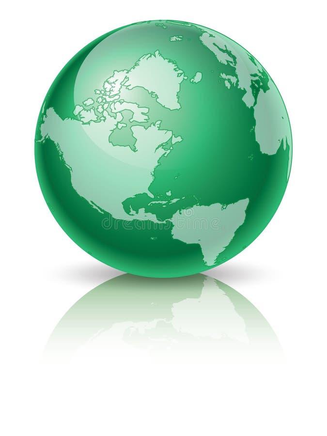 Grüne Kugel lizenzfreie abbildung