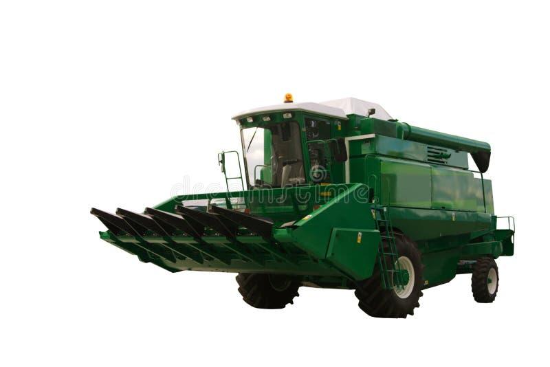 Grüne landwirtschaftliche Maschine stockfotografie
