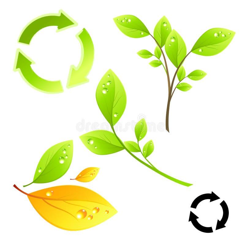 Grüne lebende Elemente stock abbildung