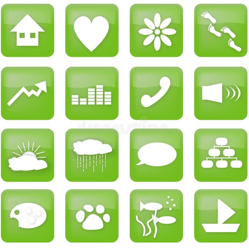 Grüne Lebensstiltasten vektor abbildung
