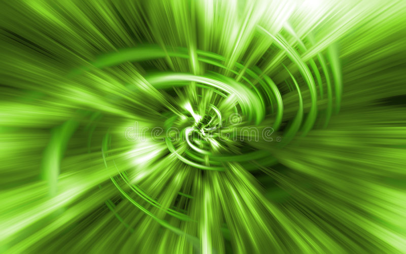 Grüne Leuchte-Tunnel lizenzfreie stockfotos