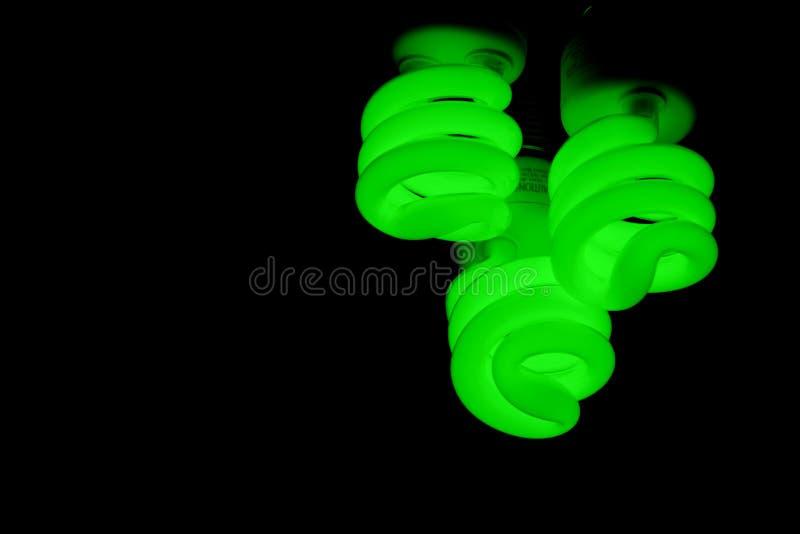 Grüne Leuchten lizenzfreie stockfotos