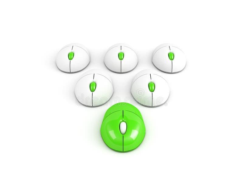 Grüne Maus des führenden Computers lizenzfreie abbildung