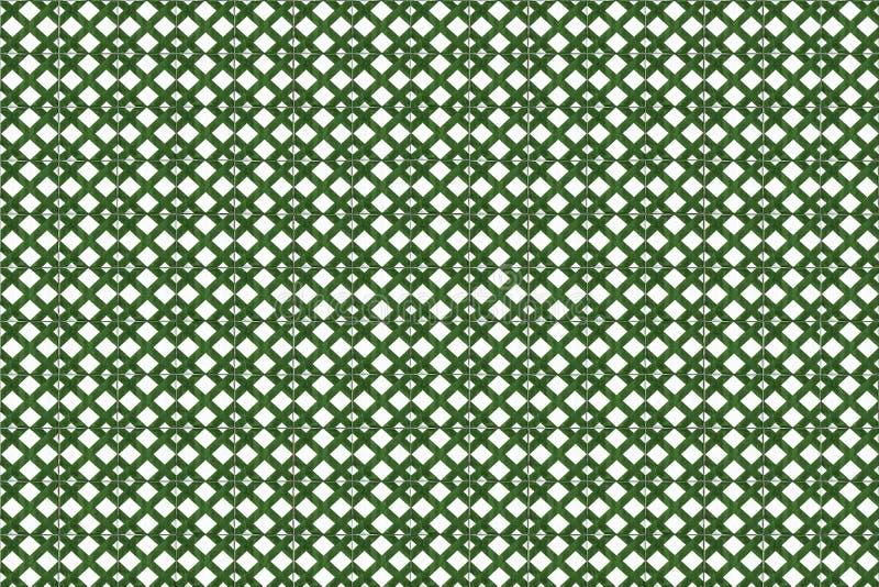Grüne Mosaik azulejo Beschaffenheit in Lissabon lizenzfreies stockbild