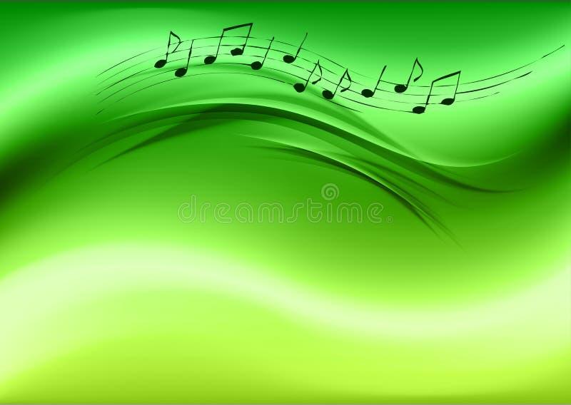 Grüne Musik stock abbildung