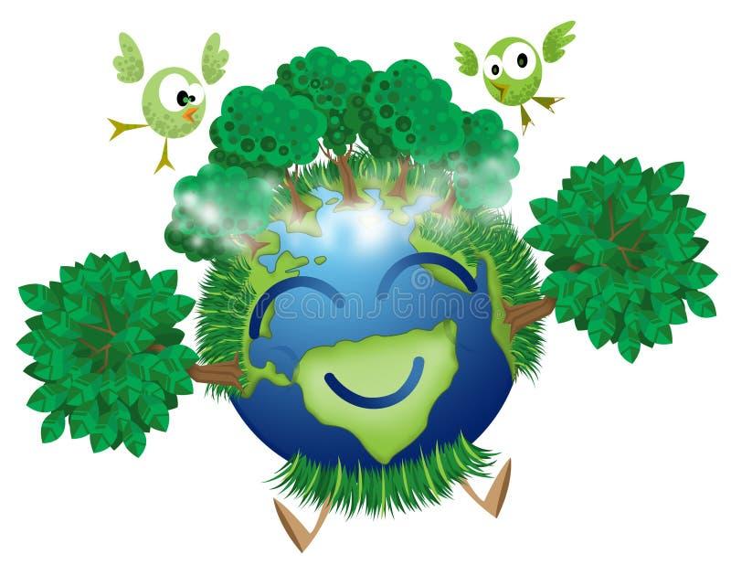 Grüne Mutter Erde stockbilder