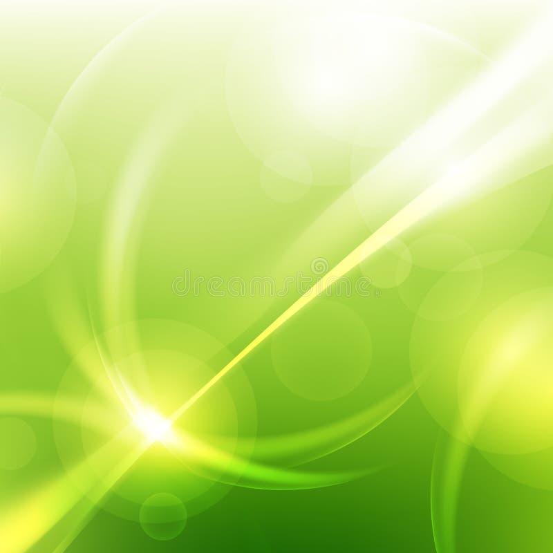 Grüne natürliche abstrakte Technologiehintergründe lizenzfreie abbildung