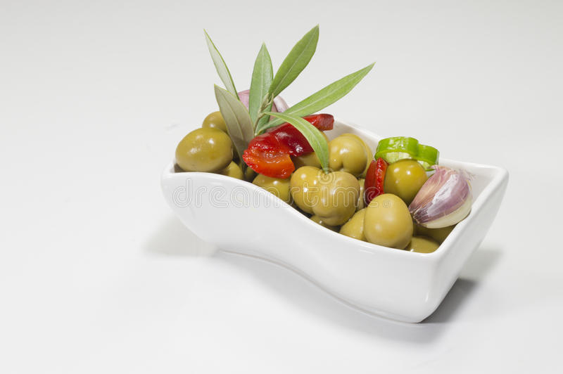 Grüne Oliven stockfotografie
