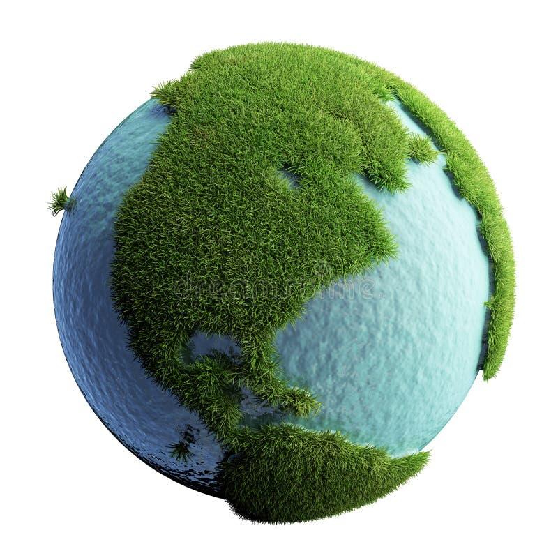 Grüne Planeten-Erde stockfotos