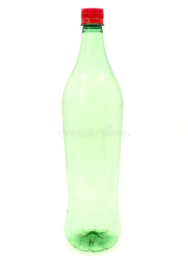 Grüne Plastikflasche lizenzfreies stockbild