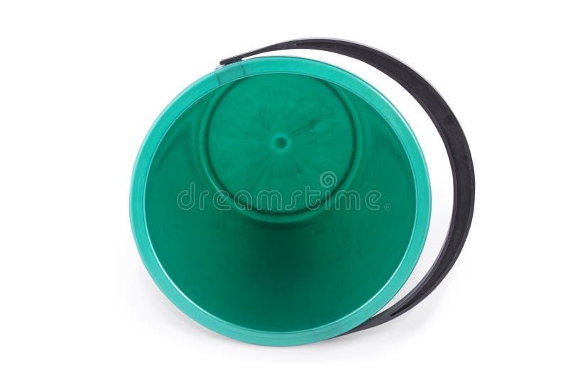 Grüne Plastikwanne lizenzfreies stockbild