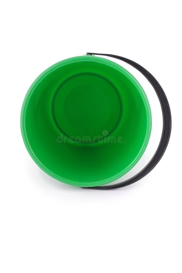Grüne Plastikwanne stockfotos