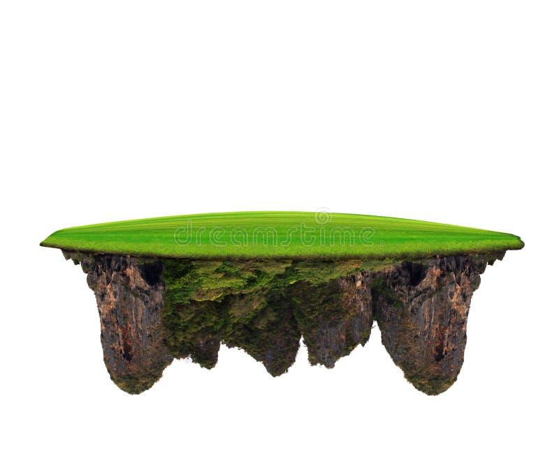 Grüne Rasenfläche auf Kalkstein-Gebirgsgebrauch für Vielzweckmorgens stockfoto