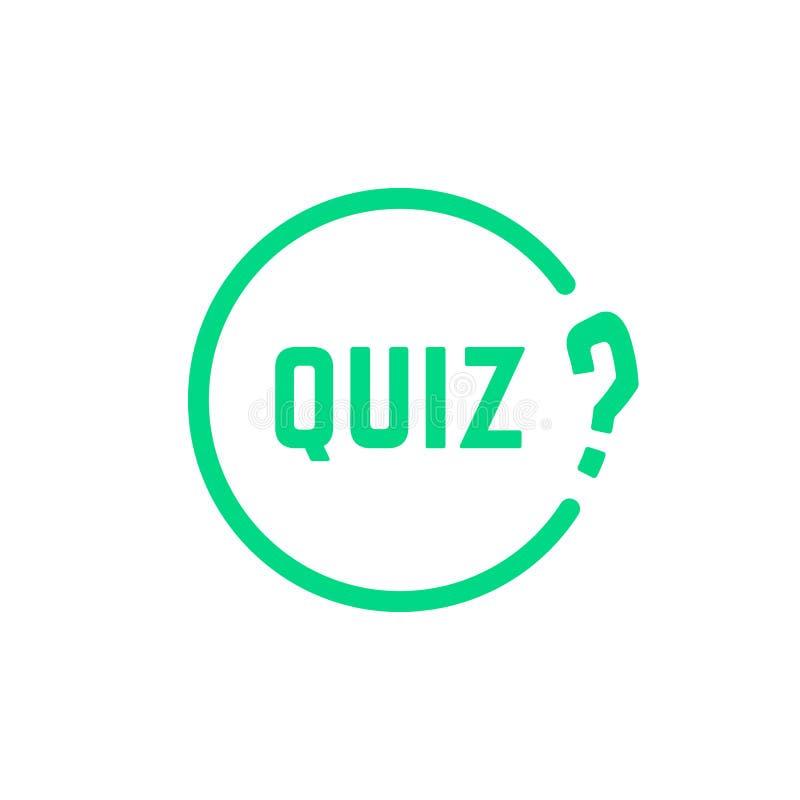 Grüne runde einfache Quizikone vektor abbildung