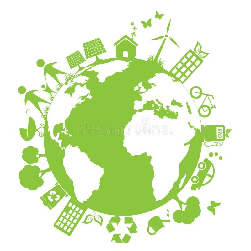 Grüne saubere Umgebung lizenzfreie abbildung