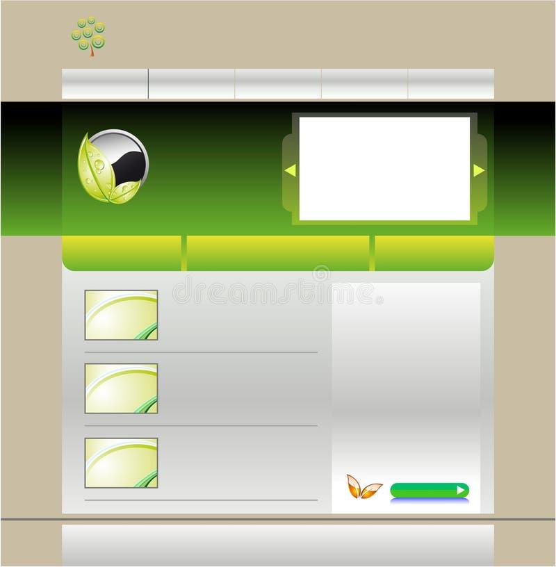 Grüne Schablone der Web site vektor abbildung