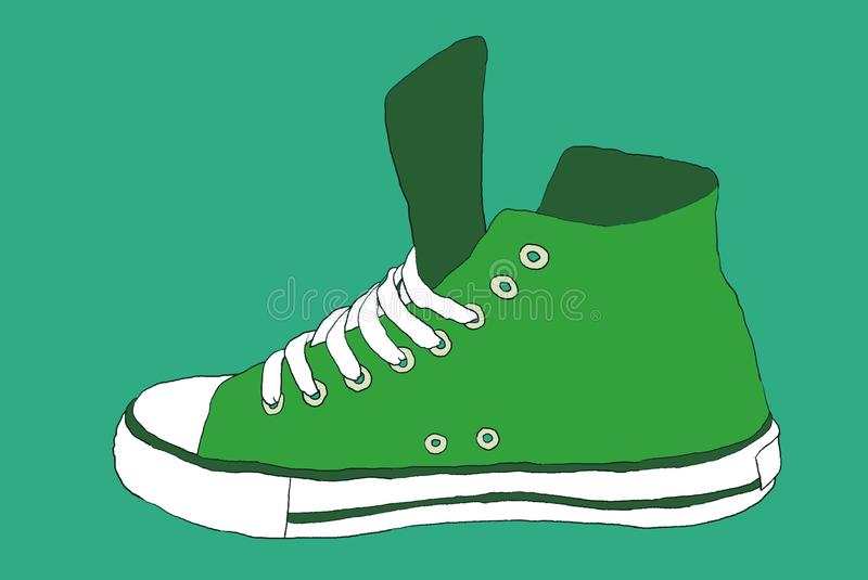 Grüne Schuhe vektor abbildung