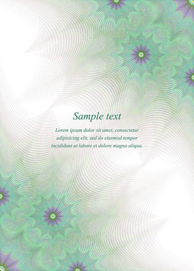 Grüne Seitenecken-Designschablone stock abbildung