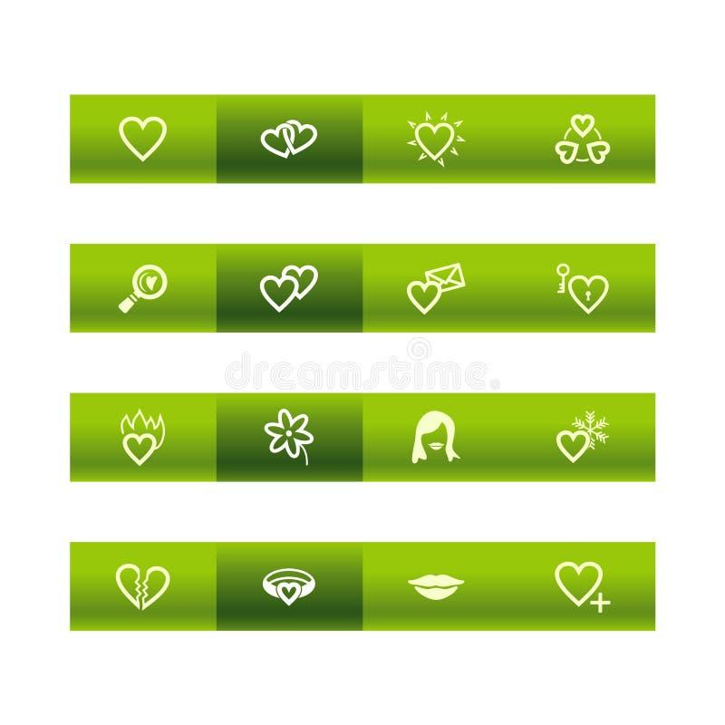 Grüne Stabliebesikonen vektor abbildung