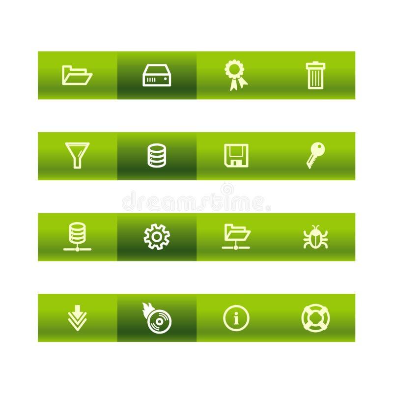 Grüne Stabserverikonen vektor abbildung
