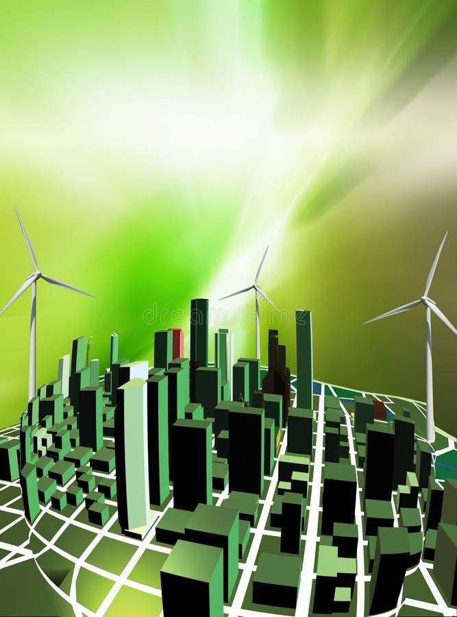 Grüne Stadt lizenzfreie abbildung