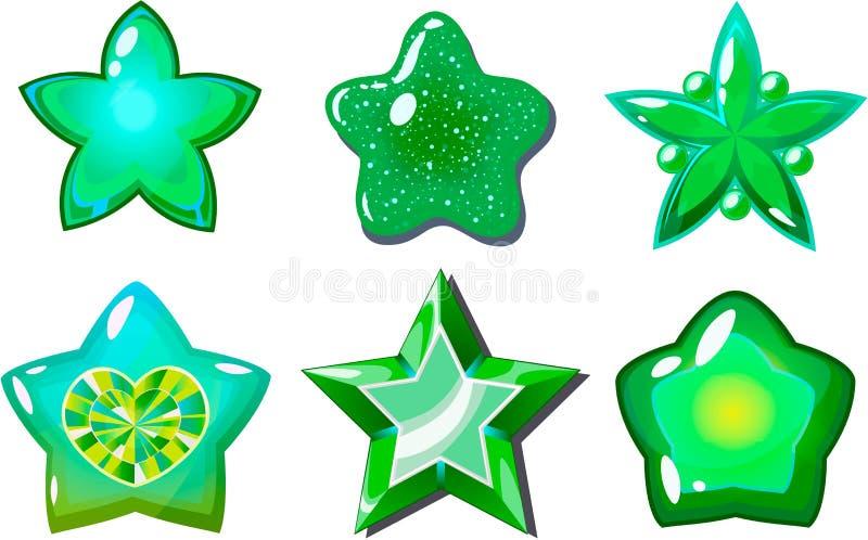 Grüne Sterne stockbilder