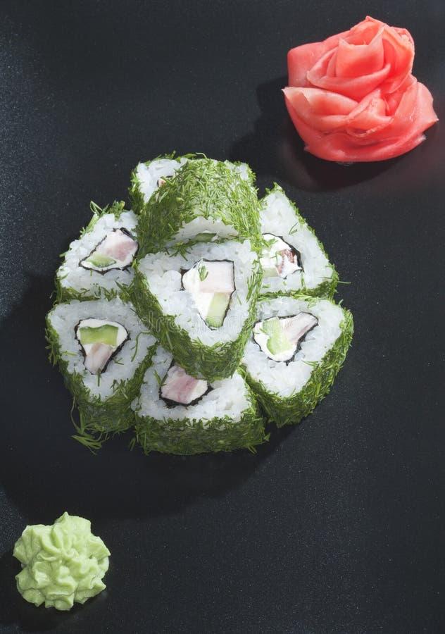 Grüne Sushi stockfoto