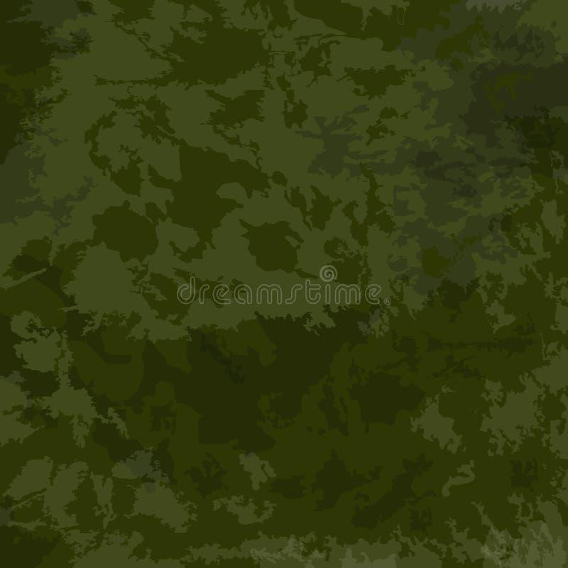 Grüne Tarnung khakifarbig Vektorvorlage ist- zum Download betriebsbereit stock abbildung