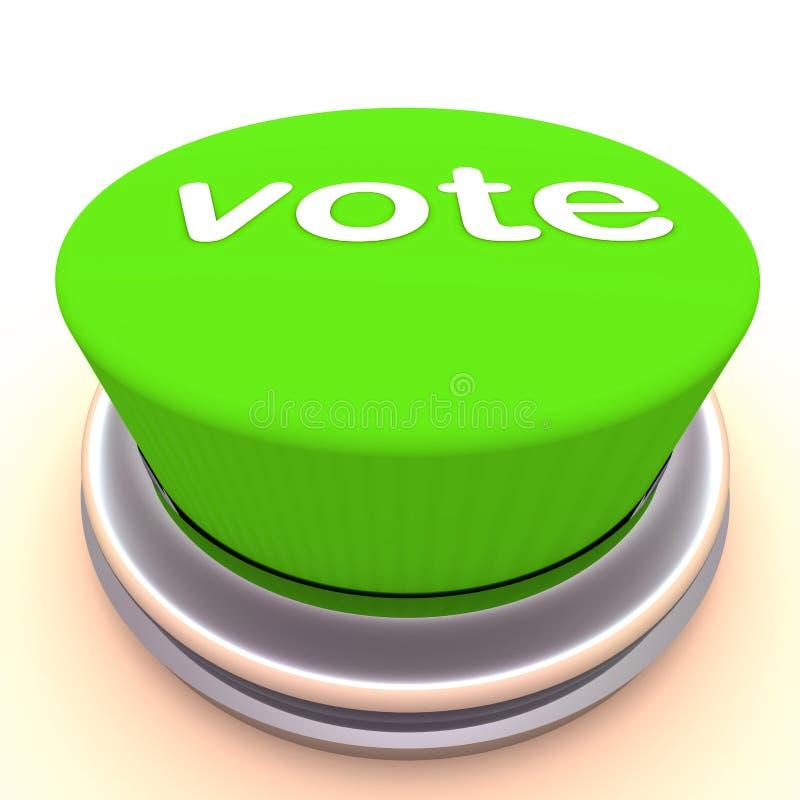 Grüne Taste der Abstimmung lizenzfreie abbildung